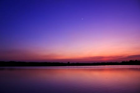 Photo for Twilight sky water reflect - Royalty Free Image