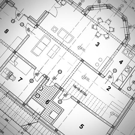 Foto de Part of architectural project - Imagen libre de derechos