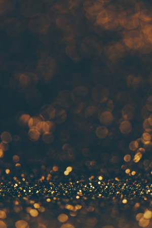 Photo for Blur neon gold and blue light circle - Royalty Free Image
