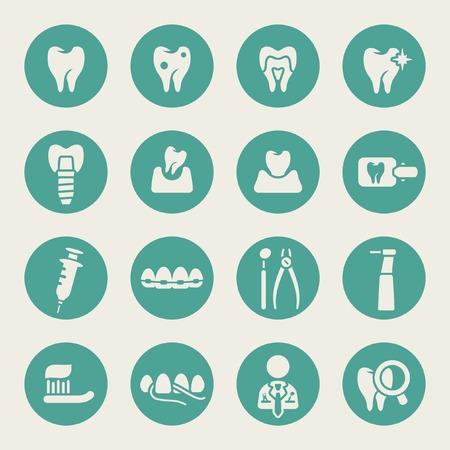 Illustration pour Dental icon set  - image libre de droit