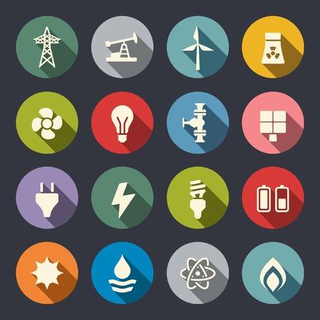 Ilustración de Energy icon set  - Imagen libre de derechos