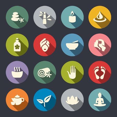 Illustration pour Spa icon set  - image libre de droit