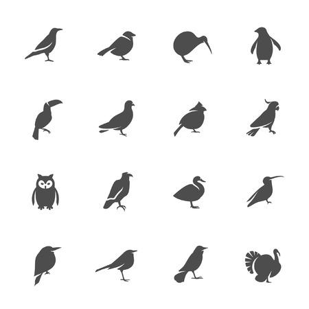 Ilustración de Birds icon set  - Imagen libre de derechos