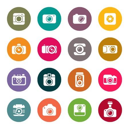 Illustration pour Camera icon set - image libre de droit
