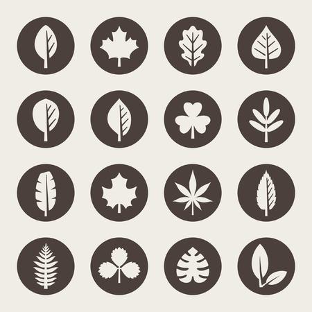 Illustration for Leaf icon set - Royalty Free Image