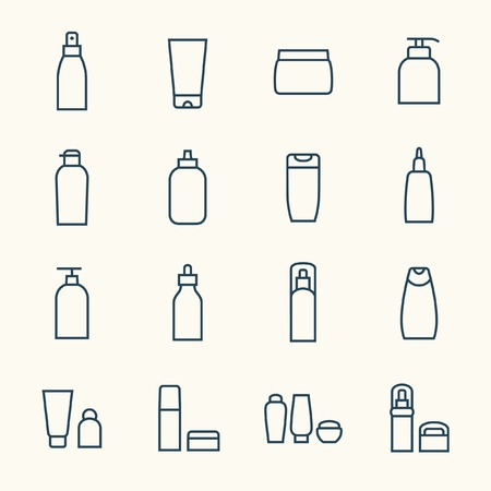 Illustration pour Cosmetics icon set - image libre de droit