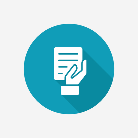 Illustration for Hand with document icon - Royalty Free Image