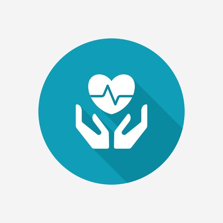 Photo for Life and health insurance icon - Royalty Free Image
