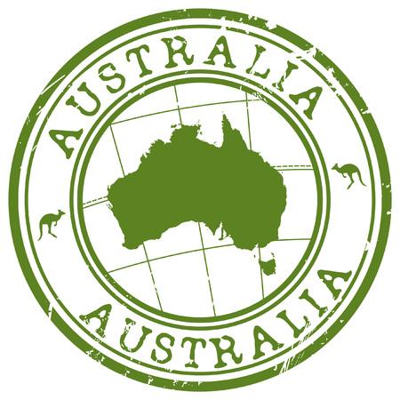Illustration for australia stamp - Royalty Free Image