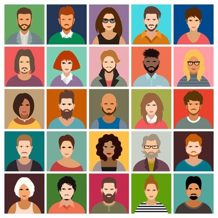Illustration pour People icon set - image libre de droit