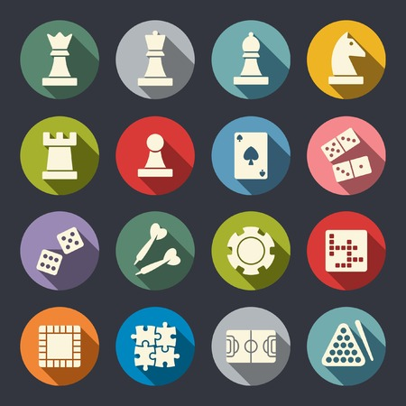 Illustration pour Games icon set - image libre de droit