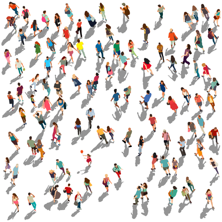Photo pour People crowd vector illustration - image libre de droit