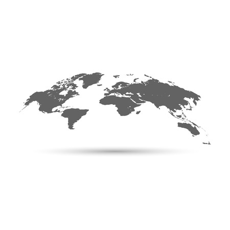 Illustration pour World map globe with shadow. Vector illustration - image libre de droit