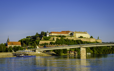 Photo for Petrovaradin fortress on a sunny day, Novi Sad, Serbia - Royalty Free Image