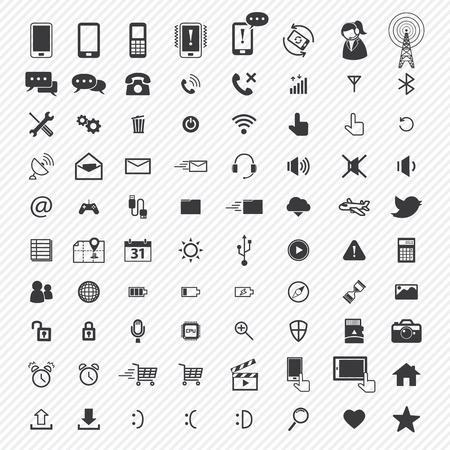 Ilustración de mobile icons set. illustration eps10 - Imagen libre de derechos