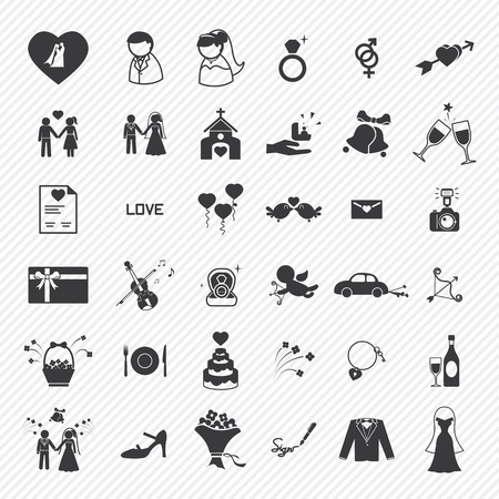 Foto per Wedding icons set. illustration eps10 - Immagine Royalty Free
