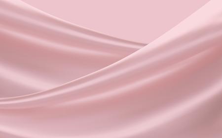 Illustration pour Smooth pink satin, soft fabrics background for design uses in 3d illustration - image libre de droit