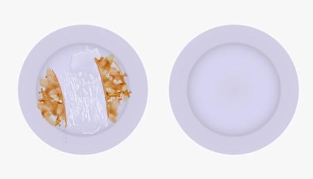 Ilustración de Clean and dirty set of plates - Imagen libre de derechos