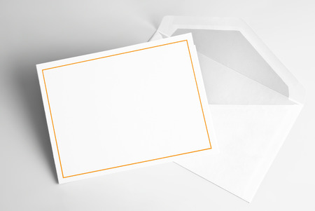 Photo for Blank invitation card and envelope - Royalty Free Image