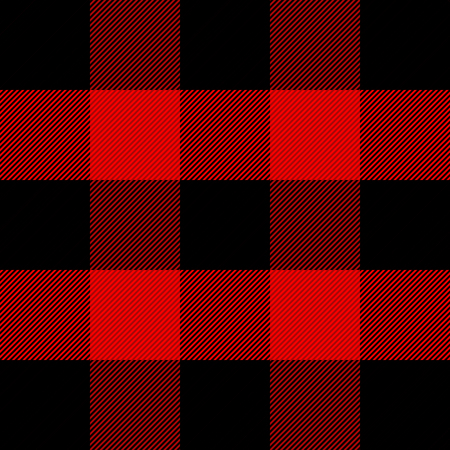 Illustration for Lumberjack plaid. Scottish pattern in red and black cage. Scottish cage. Scottish checkered background in classic colors. Traditional scottish ornament. Seamless fabric texture. Vector illustration - Royalty Free Image