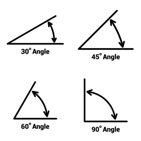Illustration for Angles icons set on white background. Vector illustration - Royalty Free Image