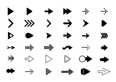 Illustration pour arrows icons (arrows icons set) - image libre de droit