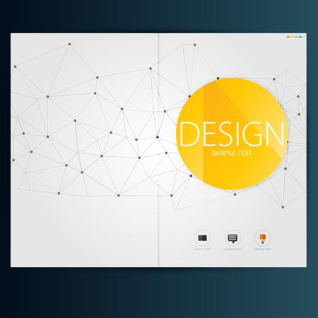 Illustration pour Modern Vector abstract brochure, report or flyer design template - image libre de droit