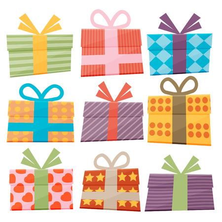 Illustration pour Set of icons of gift boxes - image libre de droit