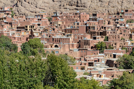 Panoramic view over Abyaneh village
