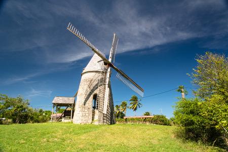 Foto de traditional wind mill Bezard in Marie-Galante, Guadeloupe - Imagen libre de derechos