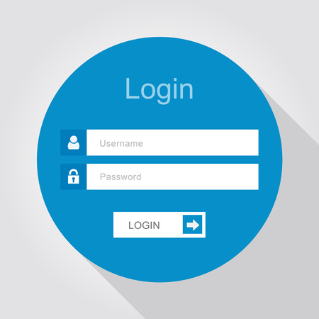 Photo pour Login interface - username and password, flat design - image libre de droit