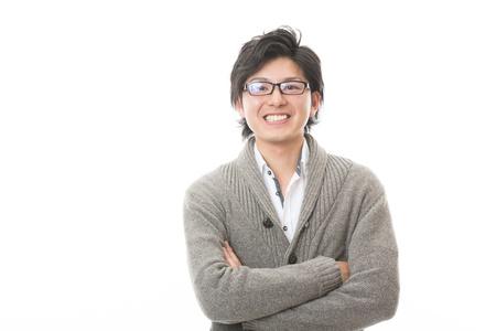 Foto de young attractive asian man of the smile - Imagen libre de derechos