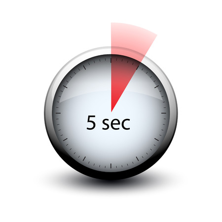 Illustration pour stopwatch with expiring time 5 seconds web icon isolated - image libre de droit