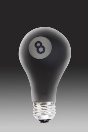 Eight Ball and Light Bulb