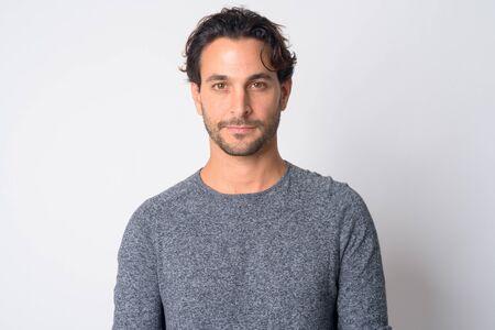 Foto de Face of handsome Hispanic man looking at camera - Imagen libre de derechos