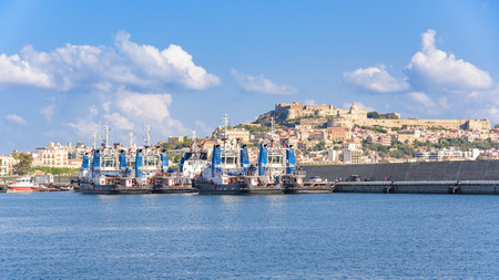 Photo for Tugs in the port of Milazzo, Sicily, Italy - Royalty Free Image