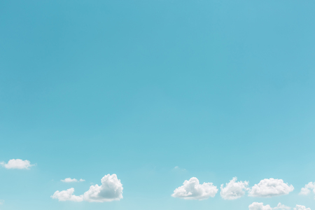 Photo for Summer white clouds in sky landscape background - Royalty Free Image