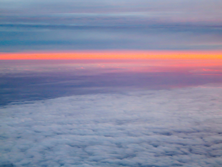 Red Dawn Above The Clouds