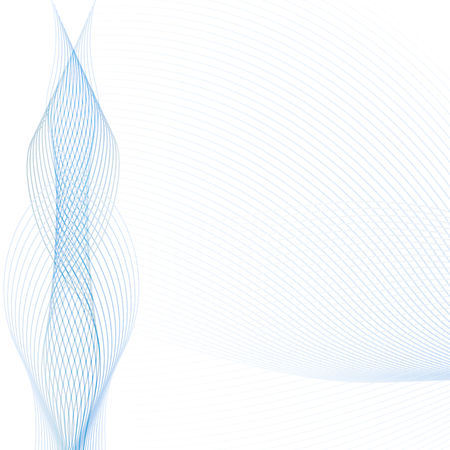 Illustration pour Abstract wave background with transparent blue and gray lines. Technology modern template with place for text for web sights, presentations, brochures. Vector EPS10 illustration - image libre de droit