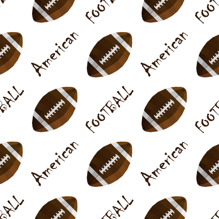 Modern seamless vectror sport style texture with football balls.