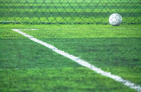 Corner , field line and artificial grass.