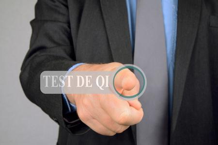Foto de Virtual IQ test - Imagen libre de derechos