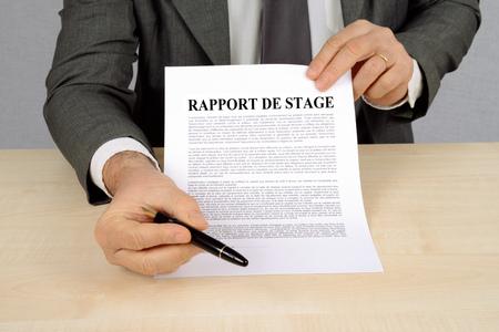 Photo pour Internship report - image libre de droit