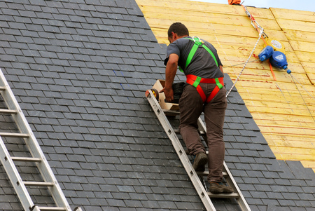 Foto de The roofer - Imagen libre de derechos