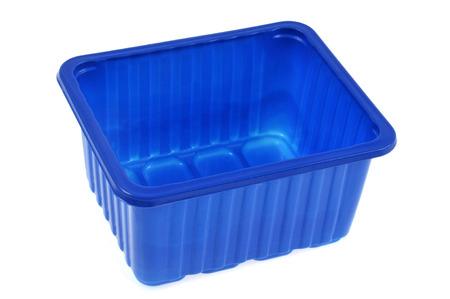 Photo pour Blue plastic tray - image libre de droit