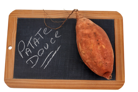 Photo for Sweet potato on a slate - Royalty Free Image