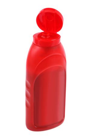 Photo pour bottle of ketchup on a white background - image libre de droit