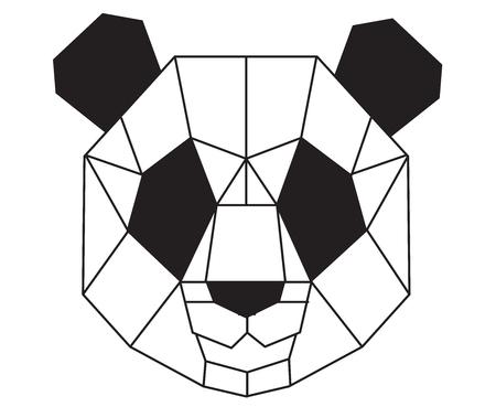 Illustration pour Polygonal panda. - image libre de droit