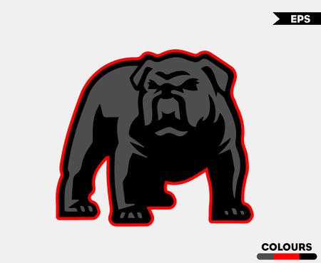 Illustrazione per Angry Pull Dog Stroke Version - Immagini Royalty Free