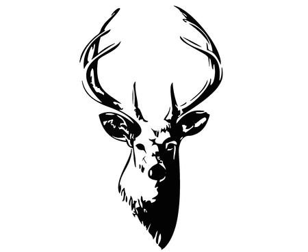 Illustration pour Black Deer - image libre de droit